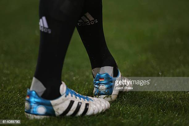Bootes of Thomas Mueller during the FIFA 2018 World Cup Qualifier between Germany and Northern Ireland at HDIArena on October 11 2016 in Hanover...
