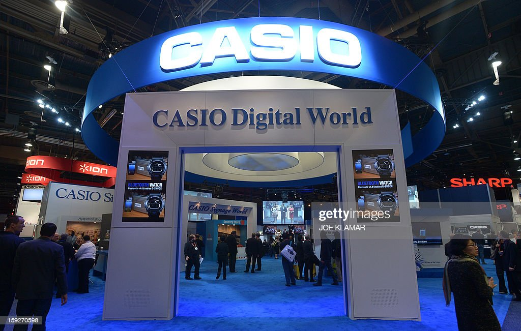 CASIO booth at the 2013 International CES at the Las Vegas Convention Center on January 10, 2013 in Las Vegas, Nevada. CES, the world's largest annual consumer technology trade show, runs from January 8-11 and is expected to feature 3,100 exhibitors showing off their latest products and services to about 150,000 attendees.