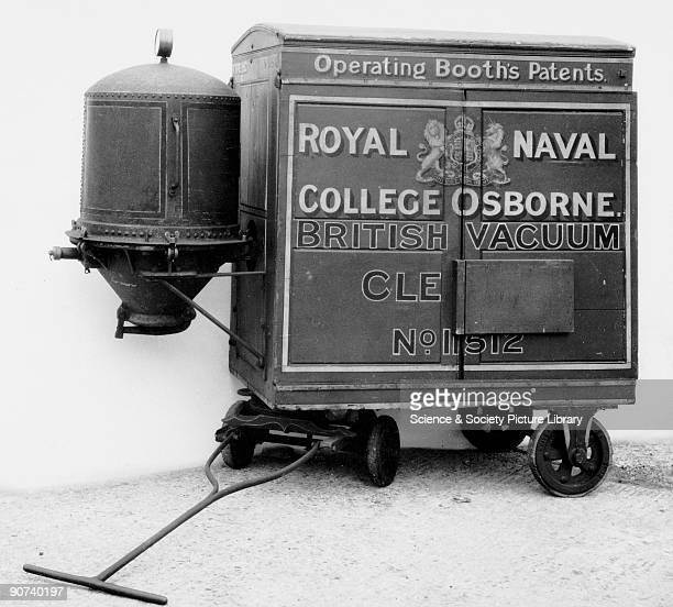 Booth's original red trolley vacuum cleaner 1905 Original vacuum cleaner supplied to the Royal Naval College Osborne Hubert Cecil Booth made the...