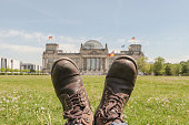 Boots in front of Reichstag building
