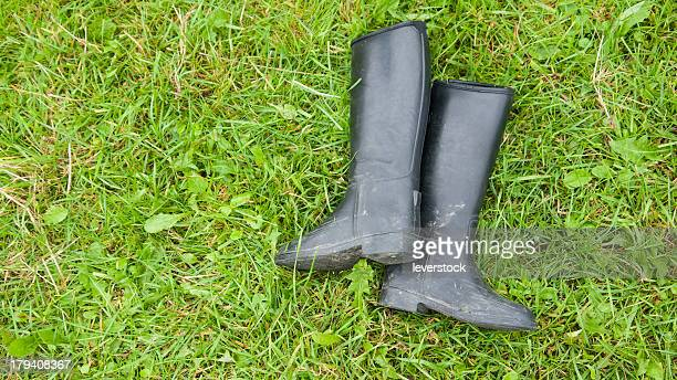 boots on grass
