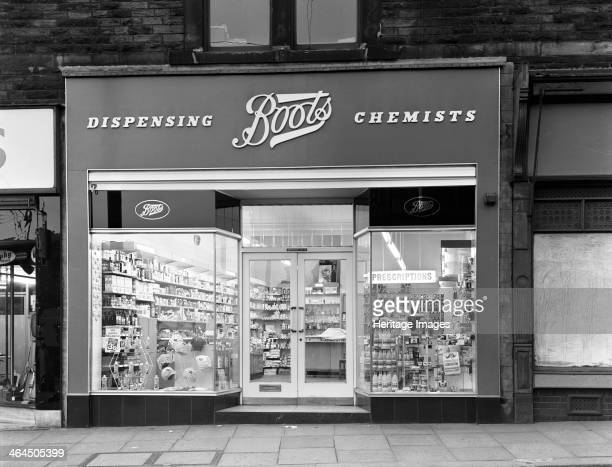 Boots the Chemist Mexborough South Yorkshire 1965