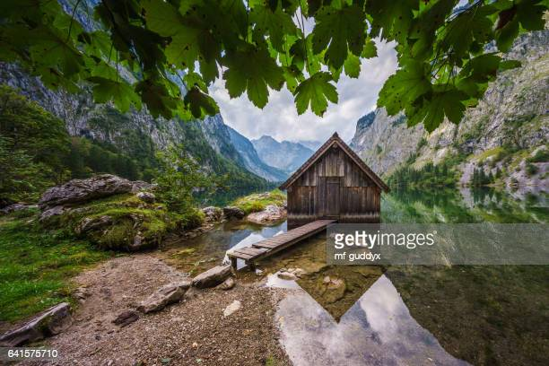 Bootshaus am Obersee beim Königssee im Berchtesgadener Land