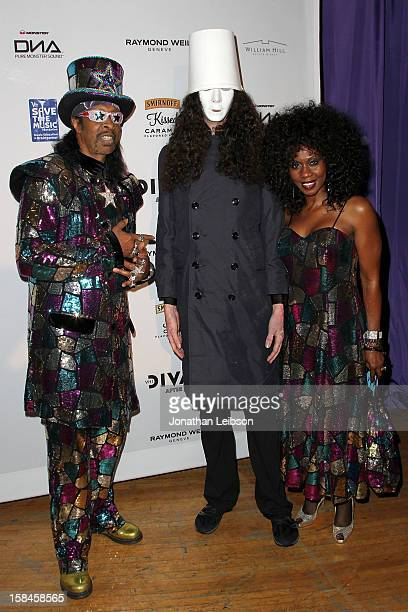 Bootsy Collins Buckethead and Patti Collins attend the VH1 Divas After Party To Benefit The VH1 Save The Music Foundation at The Shrine Auditorium on...