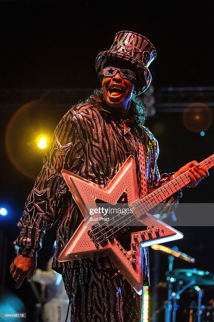 <a gi-track='captionPersonalityLinkClicked' href=/galleries/search?phrase=Bootsy+Collins&family=editorial&specificpeople=221725 ng-click='$event.stopPropagation()'>Bootsy Collins</a> performs at the Bumbershoot Music and Arts Festival in August 31, 2014 in Seattle, Washington.