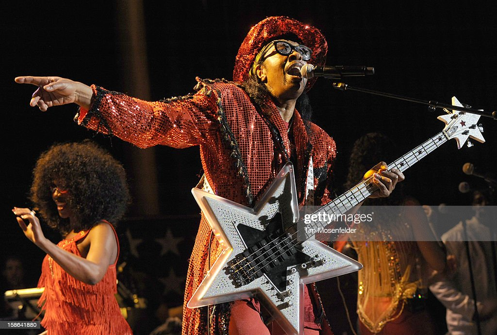 Bootsy Collins performs at The Uptown Theater on December 21, 2012 in Napa, California.