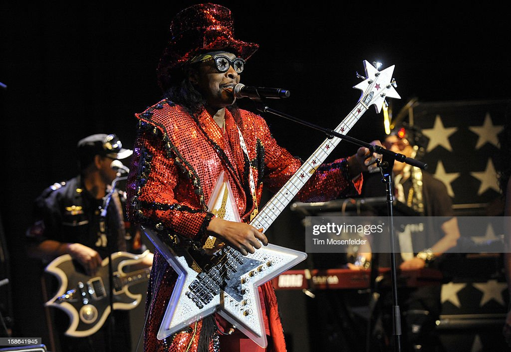 <a gi-track='captionPersonalityLinkClicked' href=/galleries/search?phrase=Bootsy+Collins&family=editorial&specificpeople=221725 ng-click='$event.stopPropagation()'>Bootsy Collins</a> performs at The Uptown Theater on December 21, 2012 in Napa, California.