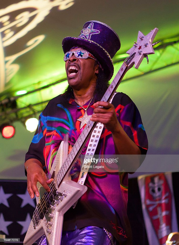 <a gi-track='captionPersonalityLinkClicked' href=/galleries/search?phrase=Bootsy+Collins&family=editorial&specificpeople=221725 ng-click='$event.stopPropagation()'>Bootsy Collins</a> performs during the 2012 Voodoo Experience at City Park on October 26, 2012 in New Orleans, Louisiana.