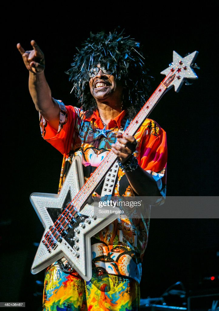 <a gi-track='captionPersonalityLinkClicked' href=/galleries/search?phrase=Bootsy+Collins&family=editorial&specificpeople=221725 ng-click='$event.stopPropagation()'>Bootsy Collins</a> performs during the Experience Hendrix 2014 Tour at The Fox Theatre on April 3, 2014 in Detroit, Michigan.