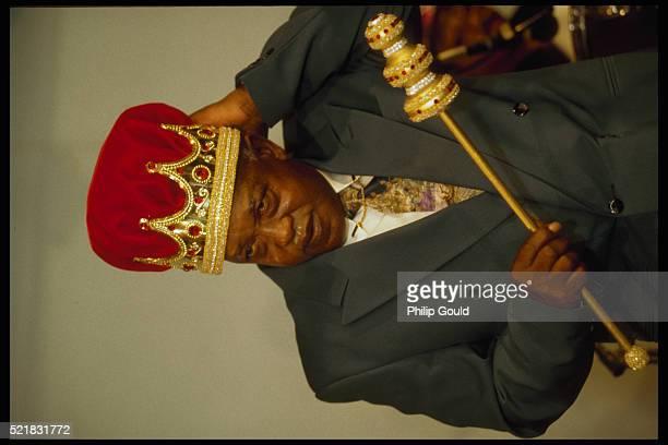 Boozoo Chavis Wearing Crown as King of Zydeco