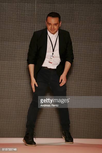 Bora Aksu attends his runway show during the MercedesBenz Fashion Week Istanbul Autumn/Winter 2016 at Zorlu Center on March 15 2016 in Istanbul Turkey