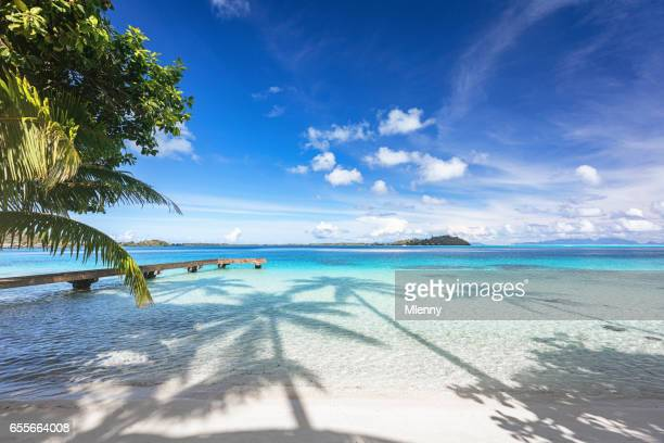 Bora Bora Island Beautiful Beach Jetty French Polynesia
