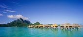 Beautiful panoramic of Bora Bora