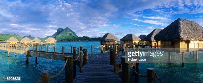 Bora Bora Pearl Beach Resort. : Stock Photo