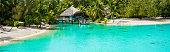 Small over the water chapel in Bora Bora, Tahiti
