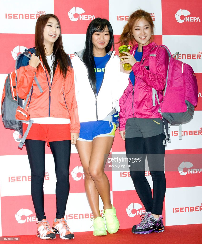 Bora Hyorin and Soyou of South Korean girl group SISTAR attend a promotional event for the NEPA History Show 2013 'ISENBERG' Launching Show at COEX...