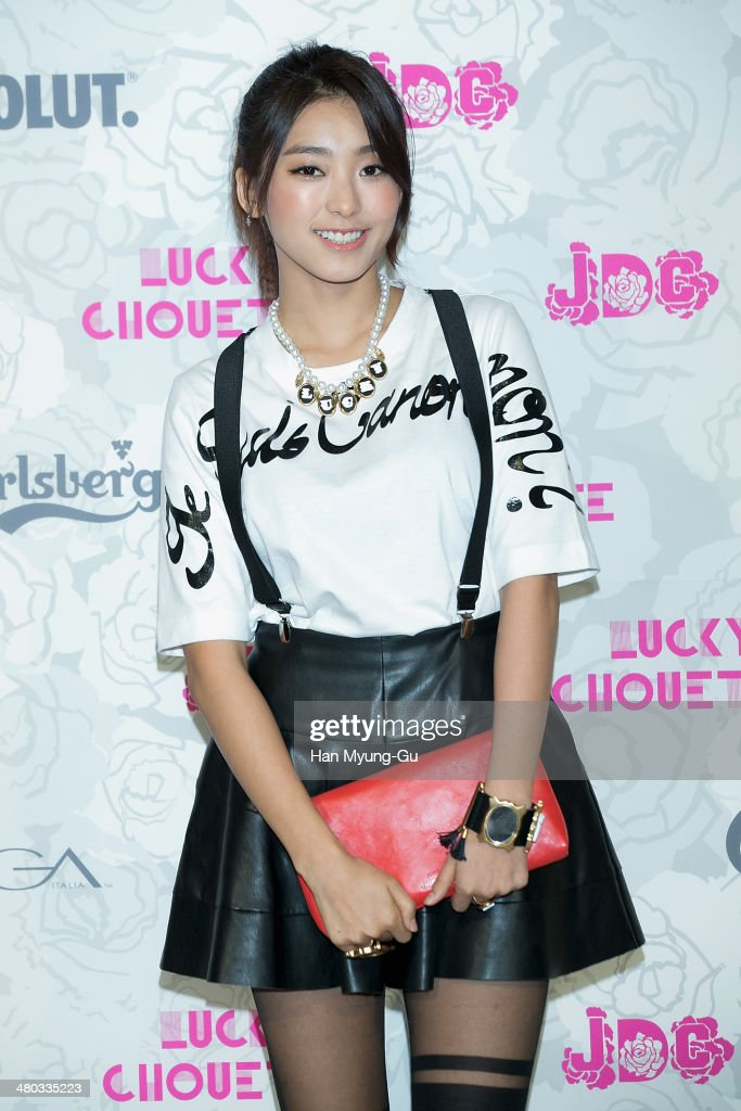 Bora of South Korean girl group SISTAR attends the 'Lucky Chouette' Lucky Style 2014 F/W Collection at the Grand Hyatt Hotel on March 24, 2014, in Seoul, South Korea.