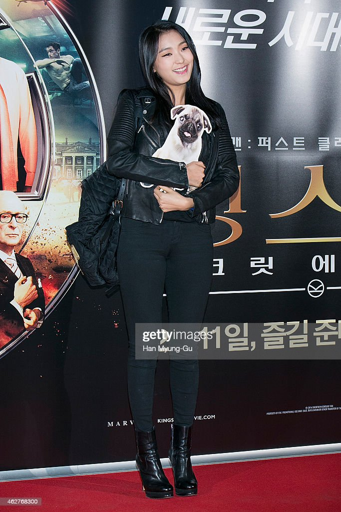 Bora of South Korean girl group SISTAR attends the photo call for the South Korean premiere of 'Kingsman The Secret Service' at COEX Mega Box on...