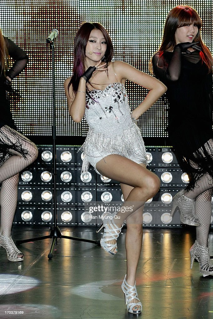 Bora of South Korean girl group SISTAR performs onstage during the SISTAR 2nd Album 'Give It To Me' Showcase at Lotte Card Art Hall on June 11, 2013 in Seoul, South Korea.