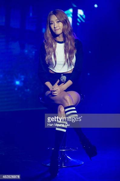 Bora of South Korean girl group SISTAR performs onstage during their new album 'Touch and Move' showcase at Ilchi Art Hall on July 21 2014 in Seoul...