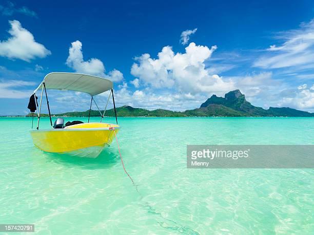 Laguna di Bora Bora-Barca a motore