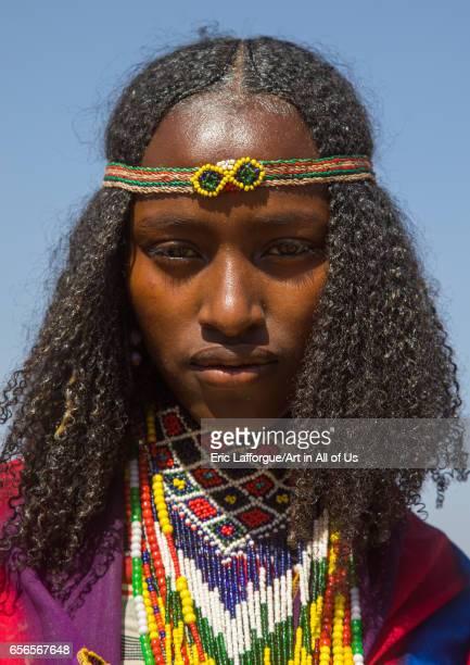 Borana tribe virgin girl during the Gada system ceremony Oromia Yabelo Ethiopia on March 7 2017 in Yabelo Ethiopia