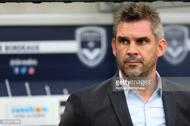 Bordeaux' head coach Jocelyn Gourvennec looks on before the UEFA Europa League qualifying match between Bordeaux and Videoton at Stade Matmut...