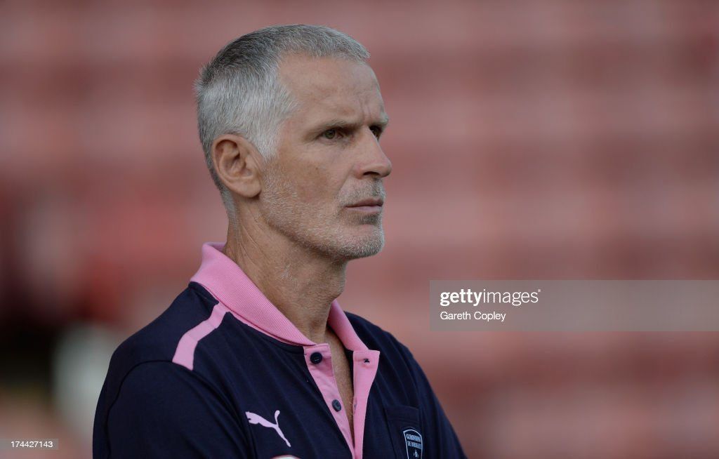 Bordeaux manager Francis Gillot during a Pre Season Friendly between Barnsley and Bordeaux at Oakwell Stadium on July 25, 2013 in Barnsley, England.
