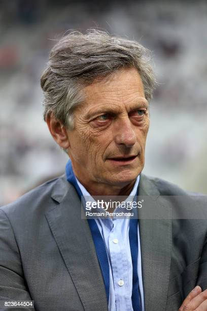 Bordeaux' owner Nicolas de Tavernost looks on before the UEFA Europa League qualifying match between Bordeaux and Videoton at Stade Matmut Atlantique...