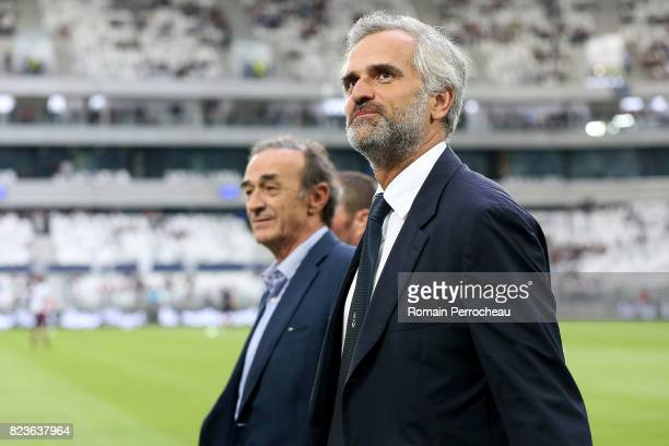 Bordeaux' president Stephane Martin looks on before the UEFA Europa League qualifying match between Bordeaux and Videoton at Stade Matmut Atlantique...