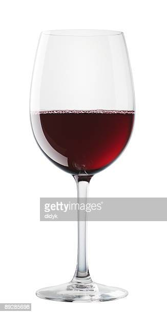 Bordeaux wine glass isolated on white background