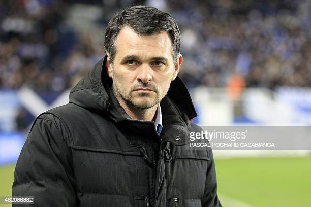 Bordeaux's French head coach Willy Sagnol looks on before the French L1 football match Bastia against Bordeaux in the Armand Cesari stadium in Bastia...