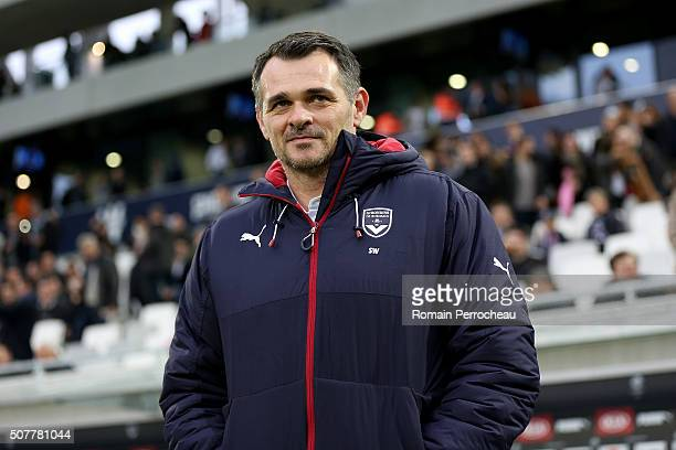 Bordeaux's headcoach Willy Sagnol looks on before French Ligue 1 match between FC Girondins de Bordeaux and Stade Rennais at Stade Matmut Atlantique...