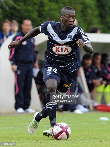 Bordeaux's Malian midfielder Abdou Traoré plays during the friendly French L1 football match Brest vs Bordeaux on July 27 2011 in Pontivy western...
