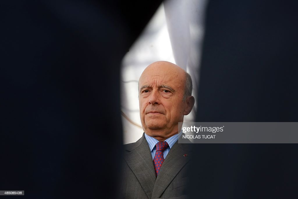 Bordeaux's mayor <a gi-track='captionPersonalityLinkClicked' href=/galleries/search?phrase=Alain+Juppe&family=editorial&specificpeople=235359 ng-click='$event.stopPropagation()'>Alain Juppe</a> visits the L'Hermione, a replica of the French frigate that transported General Lafayette to America in 1780 to rally US rebels battling for independence, on August 24, 2015 in Bordeaux, southwestern France. AFP PHOTO / NICOLAS TUCAT