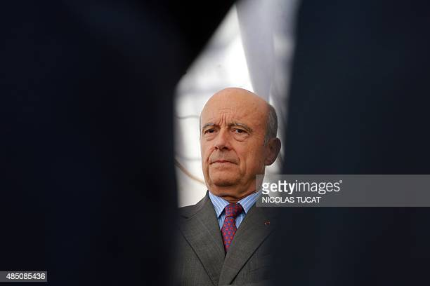 Bordeaux's mayor Alain Juppe visits the L'Hermione a replica of the French frigate that transported General Lafayette to America in 1780 to rally US...