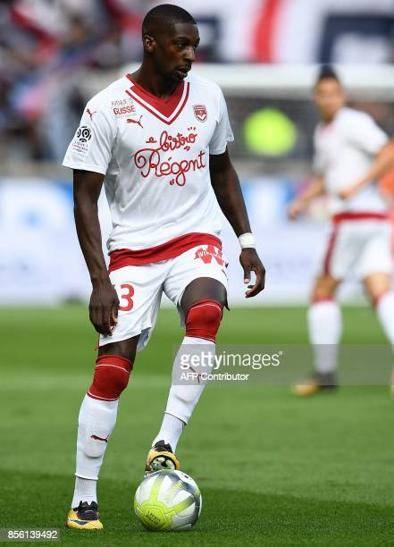 Bordeaux's Senegalese midfielder Younousse Sankhare controls the ball during the French Ligue 1 football match between Paris SaintGermain and...