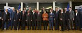 EU border agency Frontex executive director Fabrice Leggeri Dutch Minister for Immigration and State Secretary of Security and Justice Klaas Dijkhof...