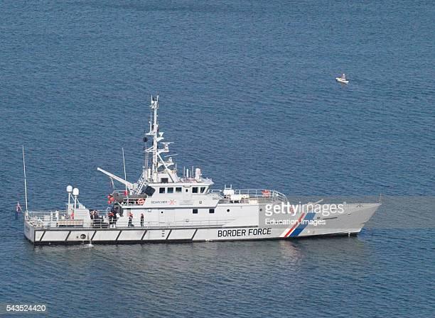 Border Force cutter Searcher Plymouth Devon UK
