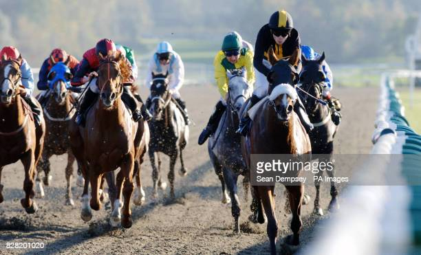 Border Music ridden by Jamie Spencer goes on to win the Betfredcasinocom Handicap at Lingfield racecourse Surrey Thursday October 27 2005 PRESS...