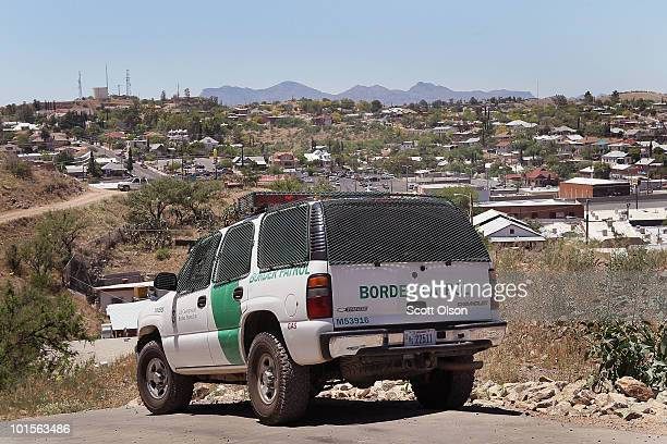 Border Patrol agent patrols the border June 1 2010 in Nogales Arizona During the 2009 fiscal year 540865 undocumented immigrants were apprehended...