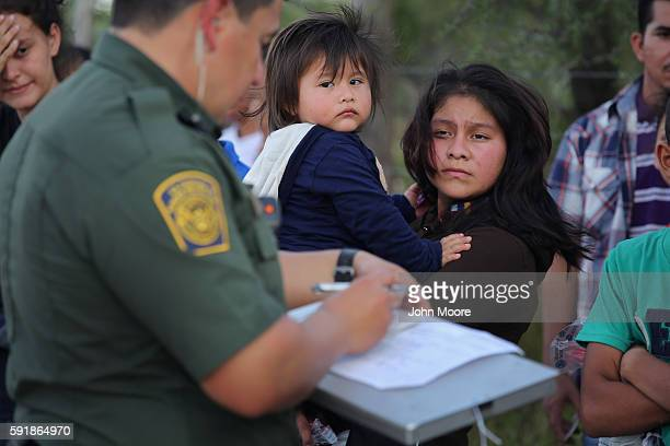 S Border Patrol agents process immigrants from Central America while taking them into custody on August 17 2016 near Roma Texas Thousands of Central...
