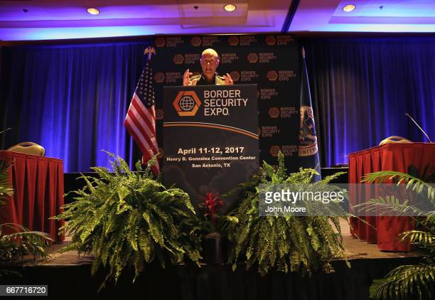 S Border Patrol Chief Ronald Vitiello speaks at the Border Security Expo on April 12 2017 at the Henry B Gonzalez Convention Center in San Antonio...