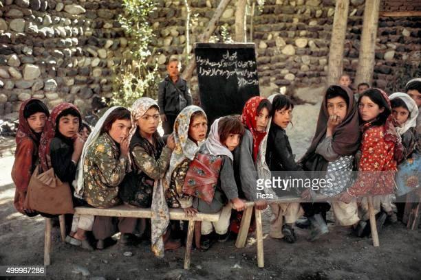 1990 Border village of Ishkashim near Tajikistan Badakhshan Province Afghanistan Coeducational school