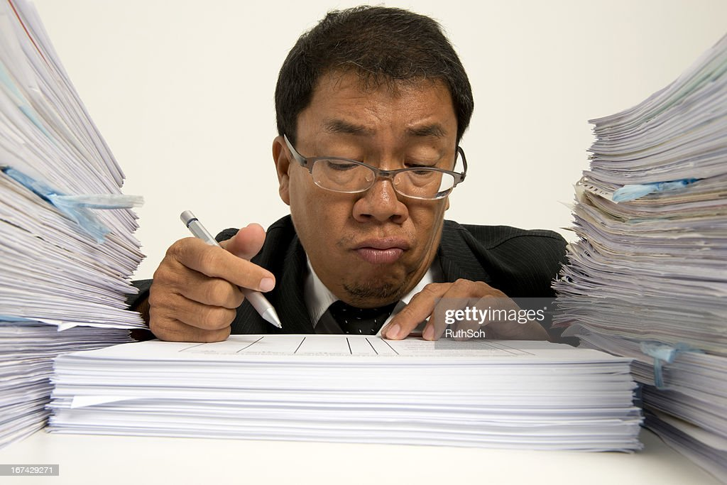 Bored at work : Stock Photo