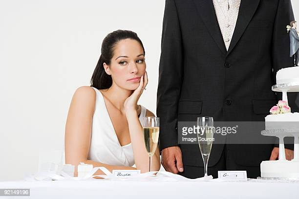Bored looking bride