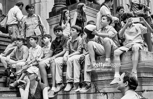 CONTENT] Bored student on a class trip to Wall Street NYC Leica M3 50mm Elmar
