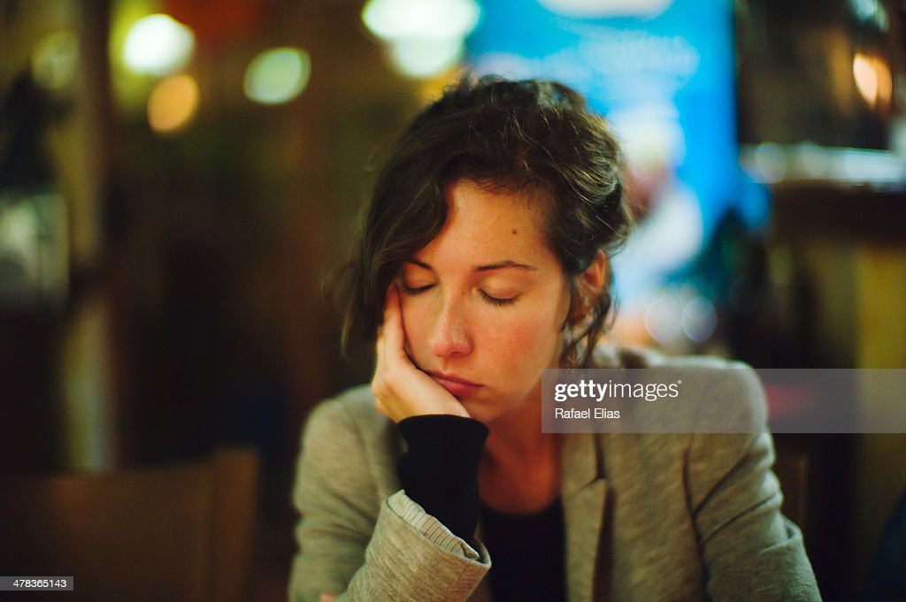 Bored woman : Stock Photo