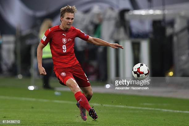 Borek Dockal of Czech Republic runs with the ball during the 2018 FIFA World Cup Qualifier match between Germany and Czech Republic at...