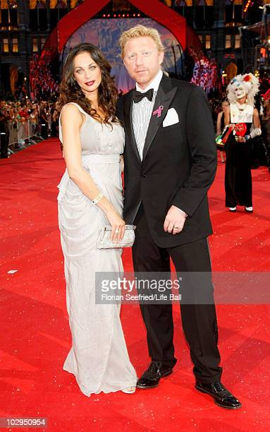 Boris and Lilly Becker attend the 18th Life Ball at the Town Hall on July 17 2010 in Vienna Austria The Life Ball is an annual charity ball raising...